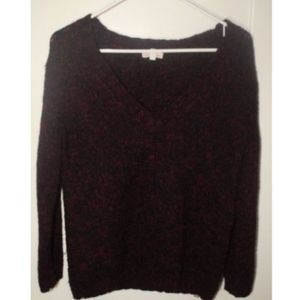 Silence And Noise Urban Outfitters V Neck Knit Red
