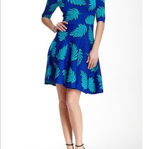 Tracy Reese 'Lisa' Leaf Print Fit & Flare