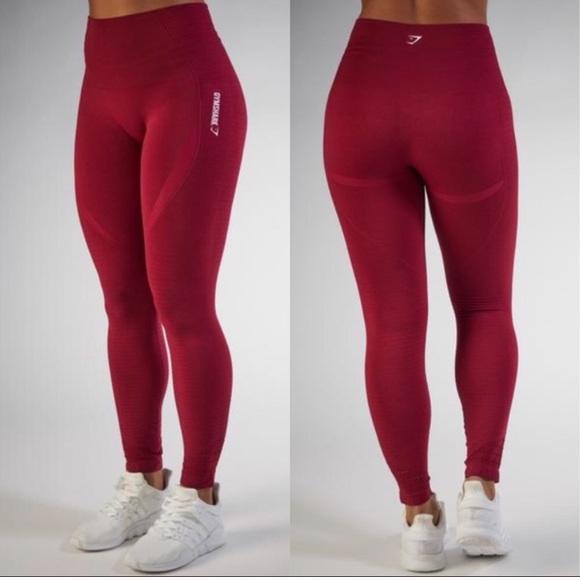 2f0a9b6f36cd3 GYMSHARK Pants | M Seamless Leggings Beet Marl Medium | Poshmark