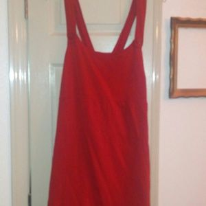 American eagle red button stretchy jumper dress xl