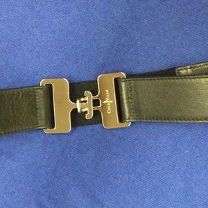 Cole Haan stretch-leather belt