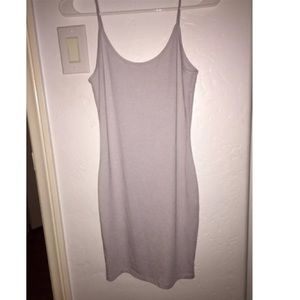 Light grey bodycon dress