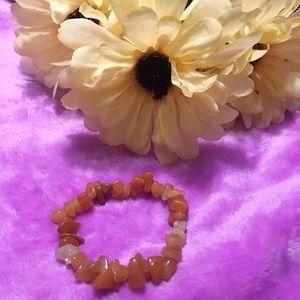 Orange Bracelet  Stone