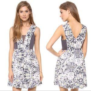 Rebecca Taylor silk halter dress w/ chiffon inset