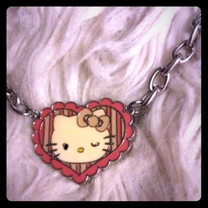 Hello Kitty Necklace silver-tone Chocker or kids