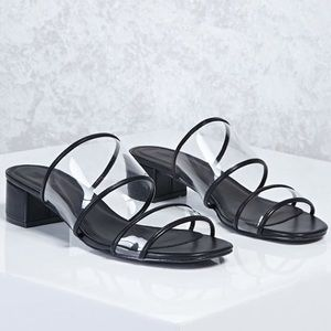 Forever21 clear heel sandals