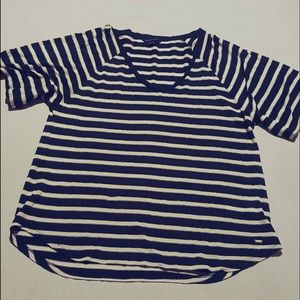 Tommy Hilfiger Navy & White & Silver T-Shirt