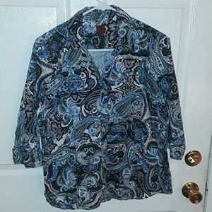 212 COLLECTION LARGE PASTY BLOUSE