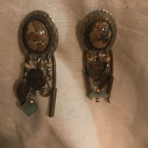 Vintage STEAMPUNK TIGGERS EYE beautiful earrings