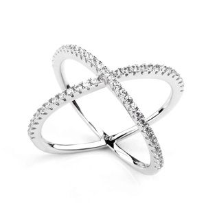 Infinity ring size 4 sterling silver cross criss