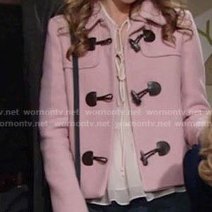 Zara Pink Toggle Jacket