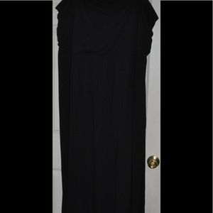 Old Navy 4X Strapless Black Maxi Dress