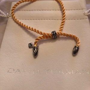 DAVID YURMAN -yellow silk cord/925 bracelet w/ bag