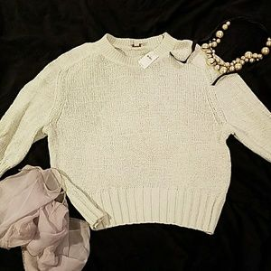 Mint Green Cropped Gap Sweater