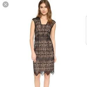 NWT Shoshanna Lace Midi Dress