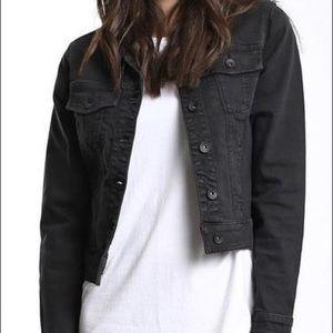 Theory black denim jacket