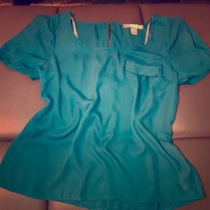 F21 Teal Blouse