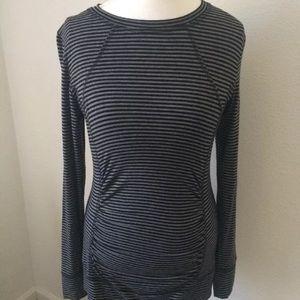 CAbi striped Long Sleeve rayon Top