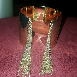 Jewelmint cuff bracelet with small chains