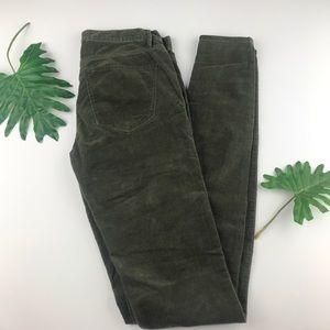 Madewell Olive Green Corduroy Skinny Pants 24
