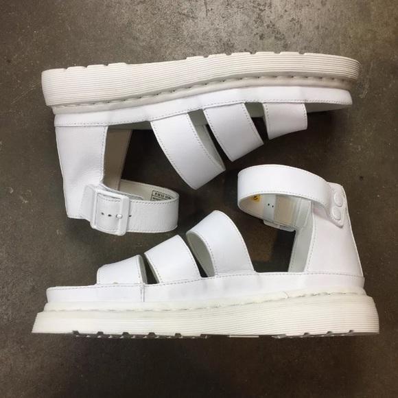 NWOT dr martens Clarissa white sandals strappy