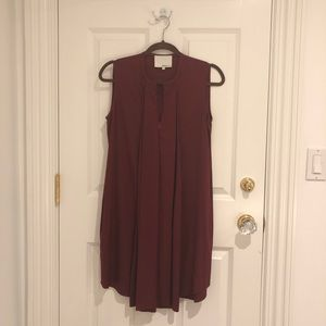 3.1 Phillip Limb Burgundy Sleeveless Silk Dress