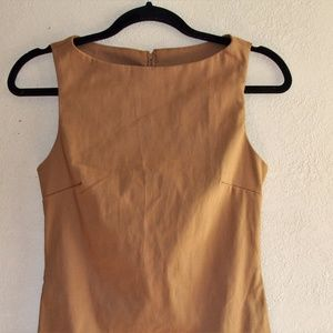 Light Brown Sleeveless Bodycon Vintage Small dress