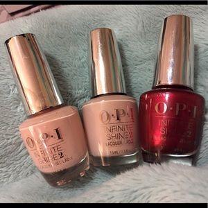 OPI infinite shine gently used nail polish trio