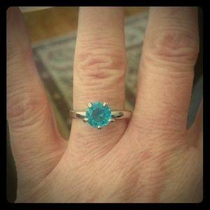 Sterling (.925) Genuine Blue Topaz Gemstone Ring