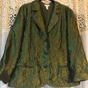Chico's blazer Jacket green size 2