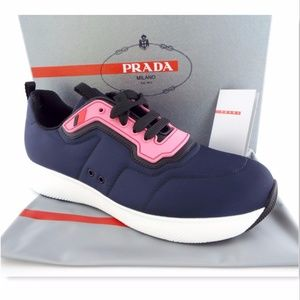New PRADA Size 41 Blue Runner Sneakers