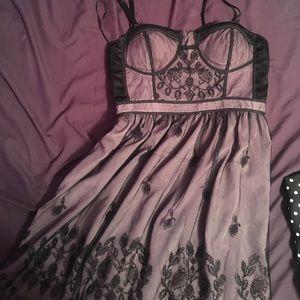 Purple lace dress