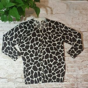 Banana Republic Brown & Ivory Giraffe Print Cartig