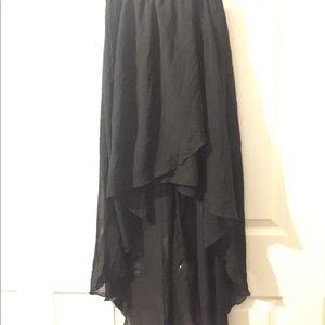 High low skirt (black)