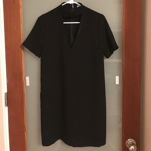Zara Dresses - Zara Black V-neck Cut Out Choker Shift Dress 7694da6a7