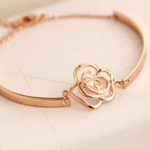 COMING SOON! Gold toned Flower Bracelet