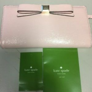 NWT🎀KATE SPADE Stacy Bow Montford Park Wallet