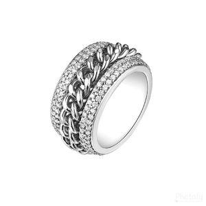 Braided Band Ring With Swarovski Crystals