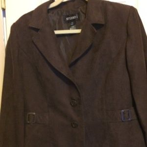 Studio I brown soft blazer