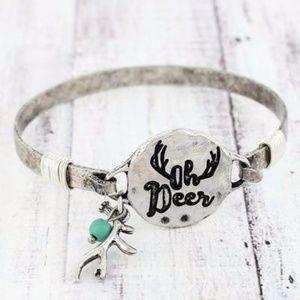Worn *GOLDTONE* 'Oh Deer' Bracelet