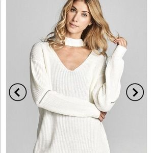 NWT Knitted Sweater with Collar