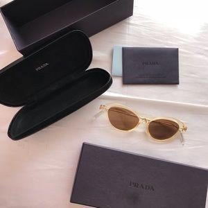 Prada Vintage Clear Cateye Sunglasses