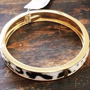 Faux Cowhide Western Hinge Bracelet NWT $10