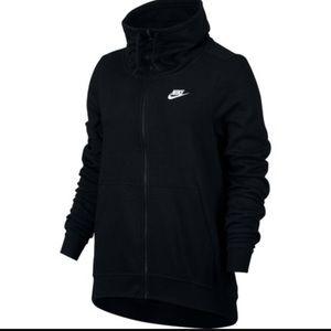 Women's Nike funnel neck full zip sweater