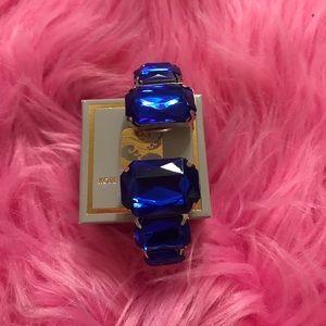 Royal blue bling bangle