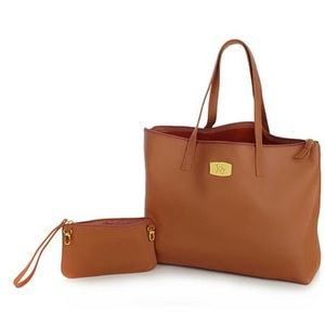 JOY Leather Smart Bag with RFID-Protected Clutch