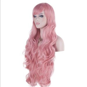 Gorgeous Pink Mauve Dusty Rose Cosplay Wig NWOT