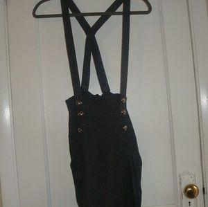 Atmosphere Button-up Dress Overalls Size S