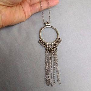 NWT American Eagle (AEO) fringe pendant necklace