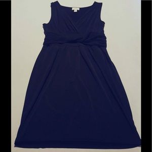 LOFT Faux Wrap Dress W/ Waist Twist & Pockets